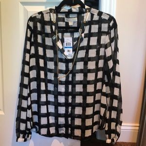 Michael Kors blouse with chain
